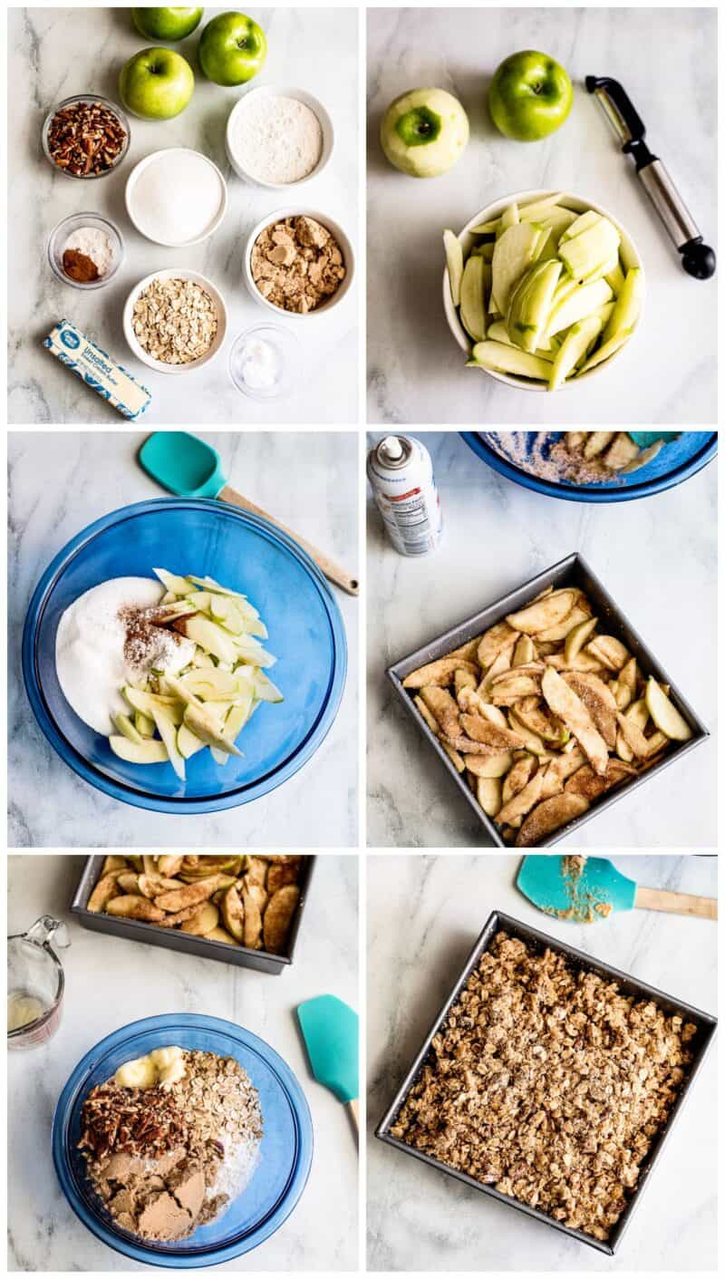 step by step photos for how to make apple crisp