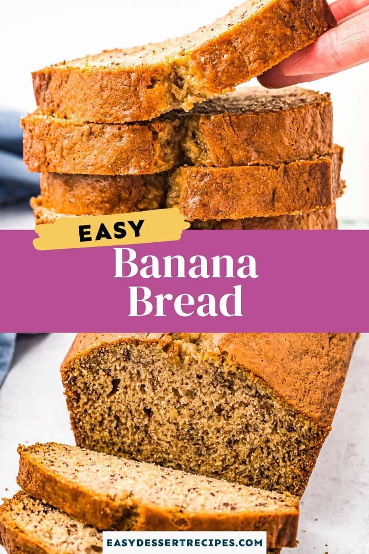 banana bread pinterest collage
