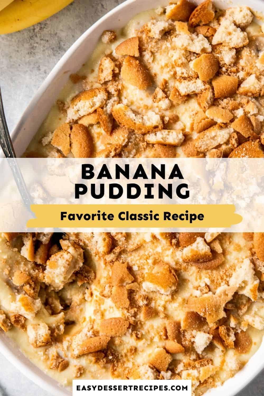 banana pudding pinterest collage