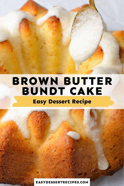 brown butter bundt cake pinterest collage