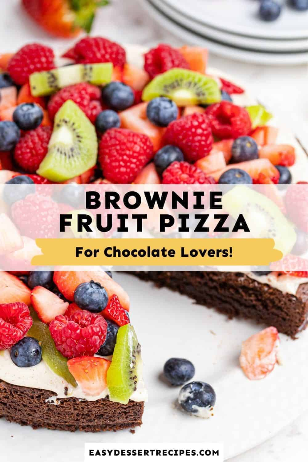 brownie fruit pizza pinterest collage