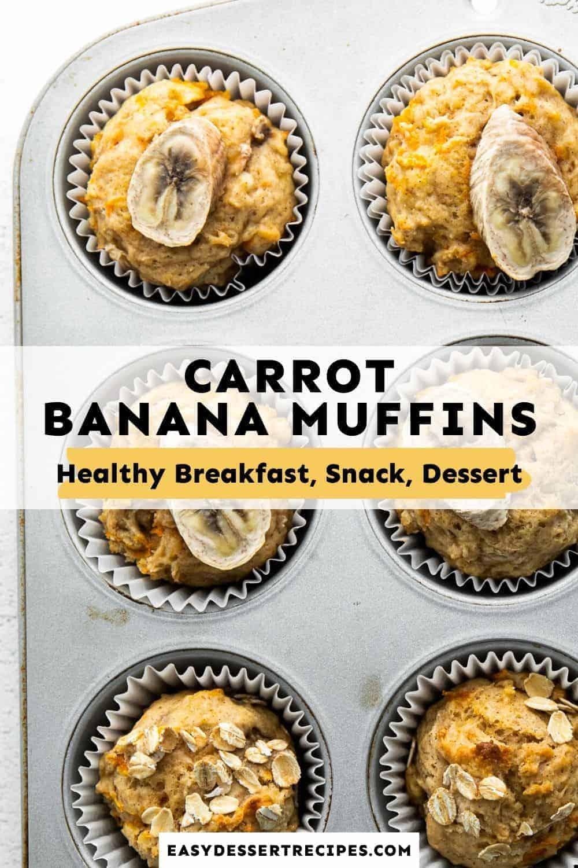carrot banana muffins pinterest collage