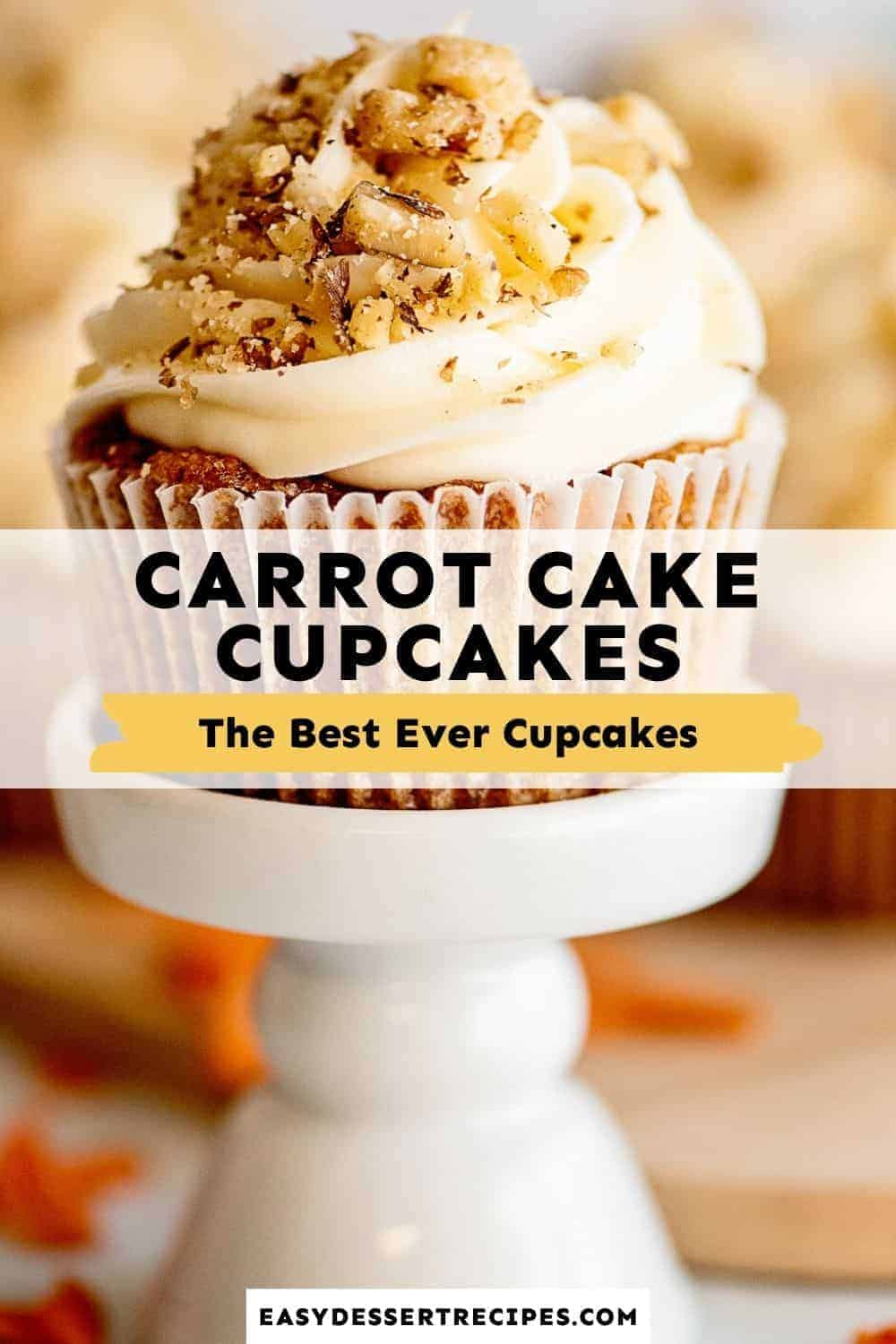 carrot cake cupcakes pinterest collage