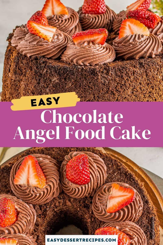 chocolate angel food cake pinterest collage