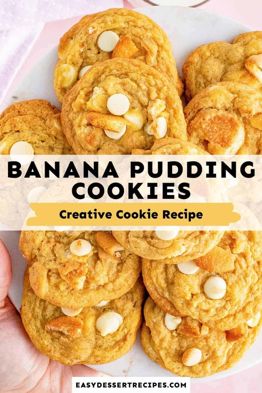 banana pudding cookies pinterest collage