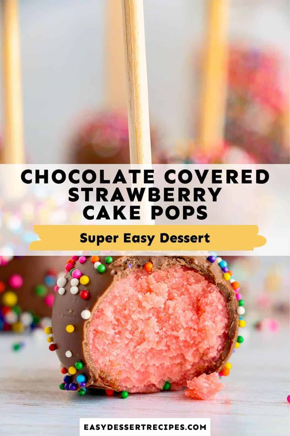 chocolate covered strawberry cake pops pinterest