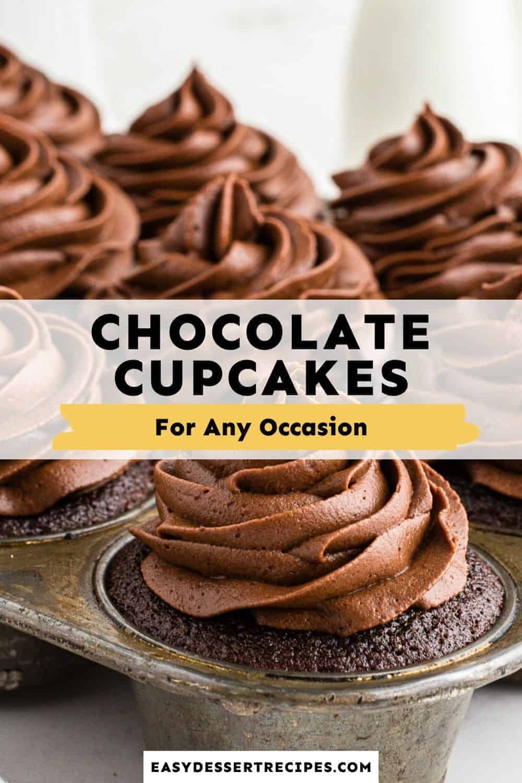 chocolate cupcakes pinterest collage