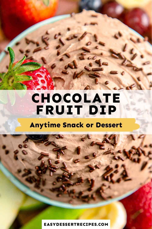 chocolate fruit dip pinterest collage
