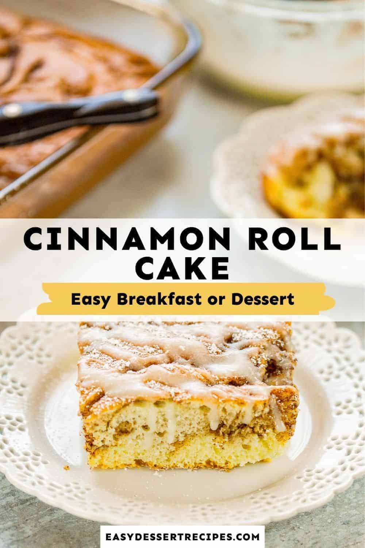 cinnamon roll cake pinterest collage