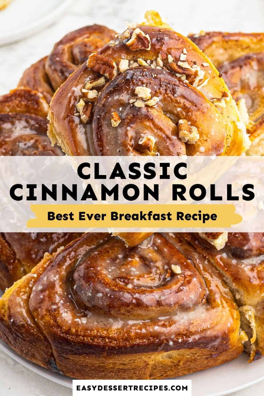homemade cinnamon rolls pinterest collage