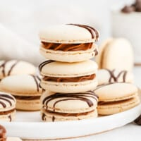 featured chocolate macarons