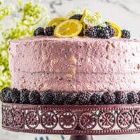 featured lemon blackberry cake