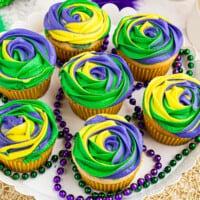 featured mardi gras cupcakes