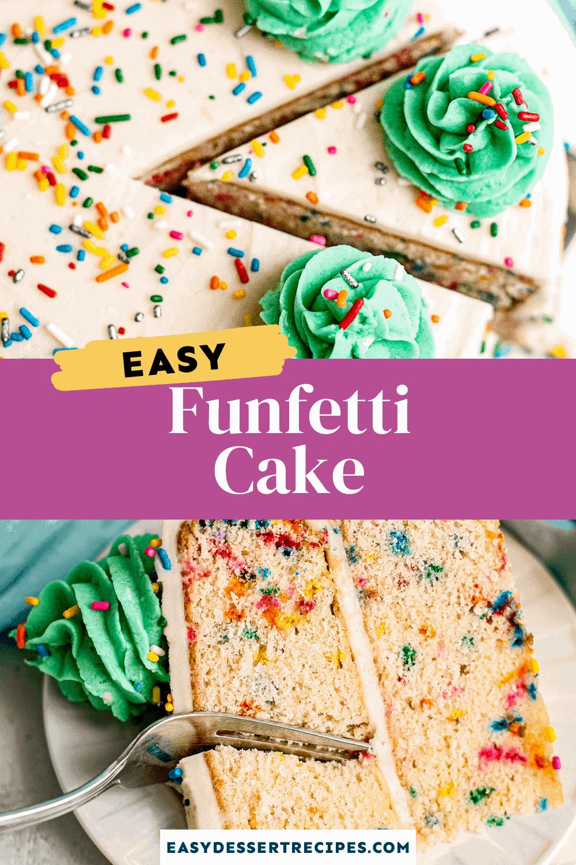 funfetti cake pinterest collage