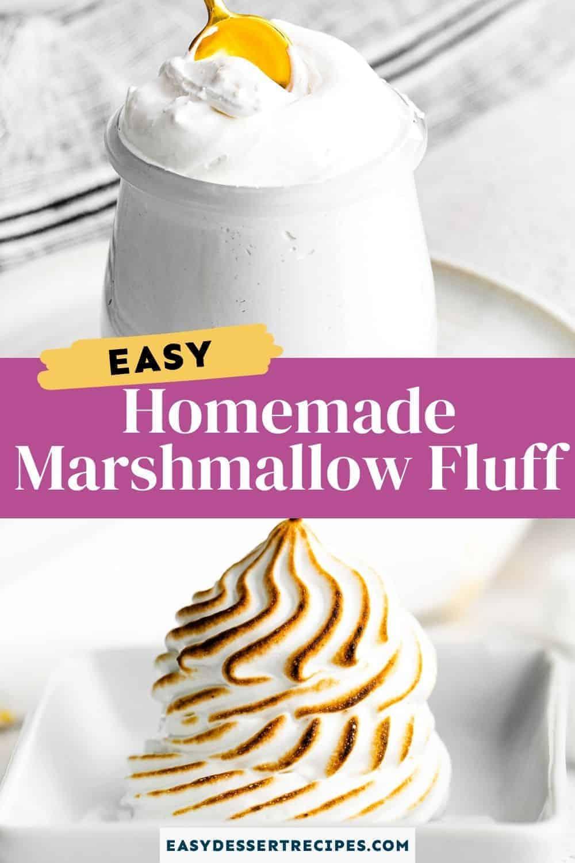 homemade marshmallow fluff pinterest collage