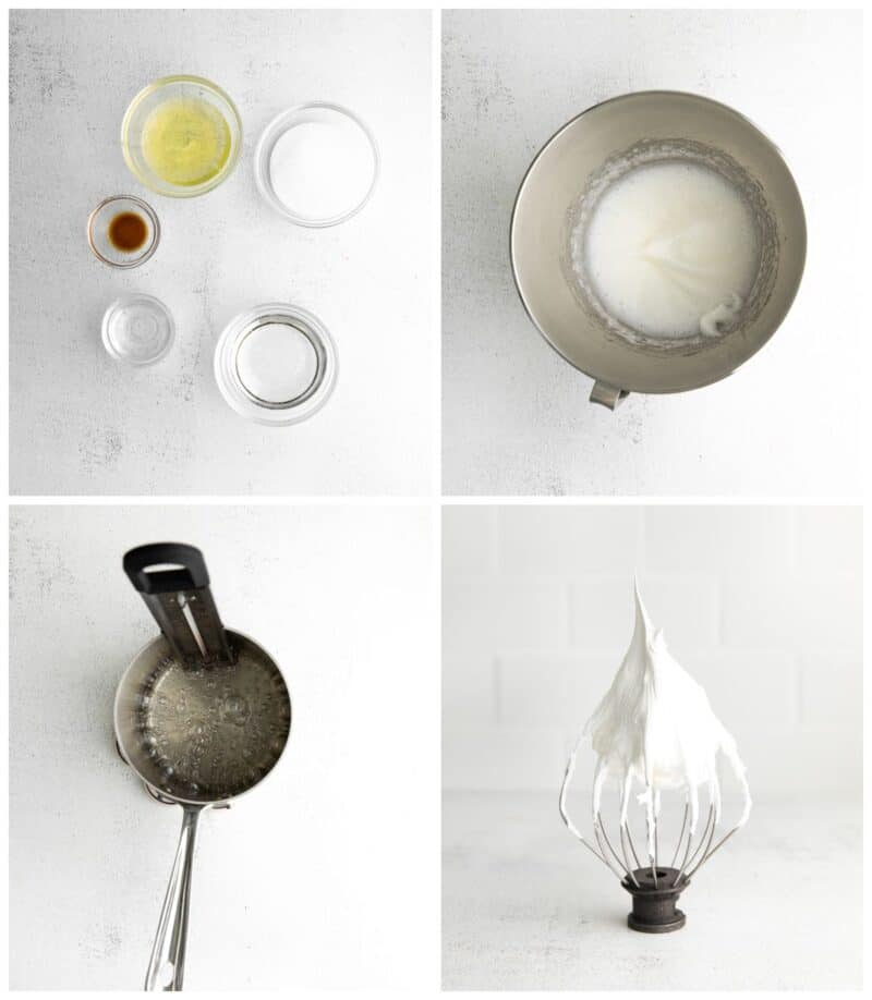 step by step photos for how to make marshmallow fluff