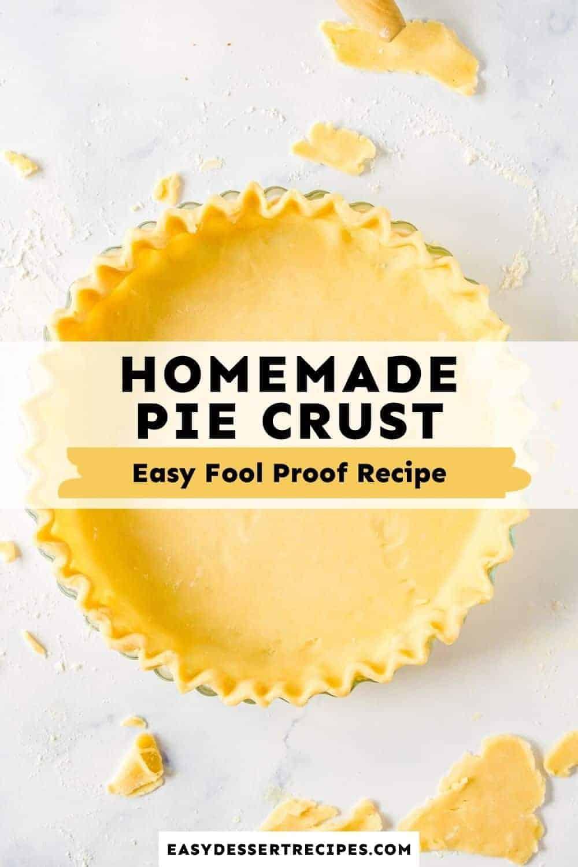 homemade pie crust pinterest collage