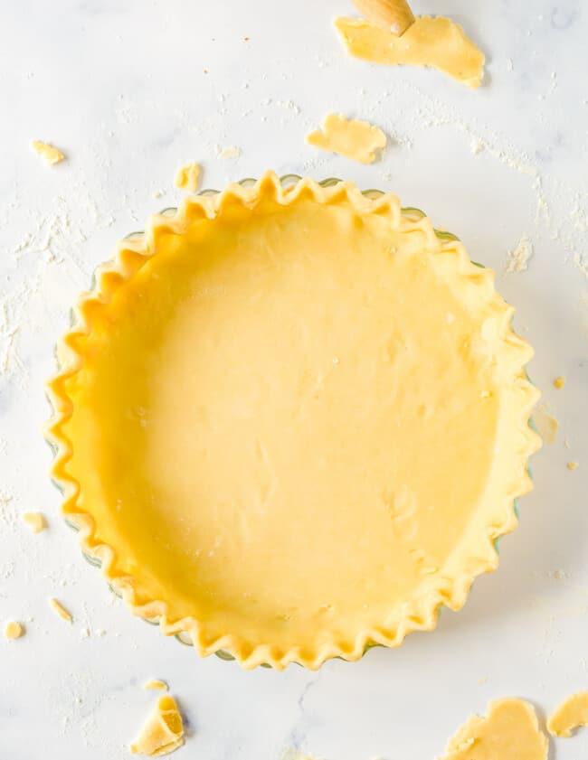 making homemade pie crust