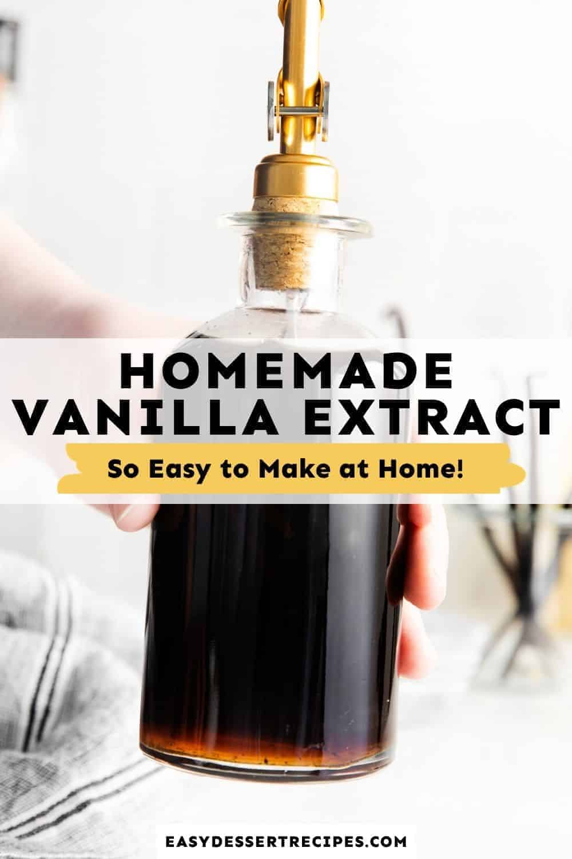 homemade vanilla extract pinterest collage