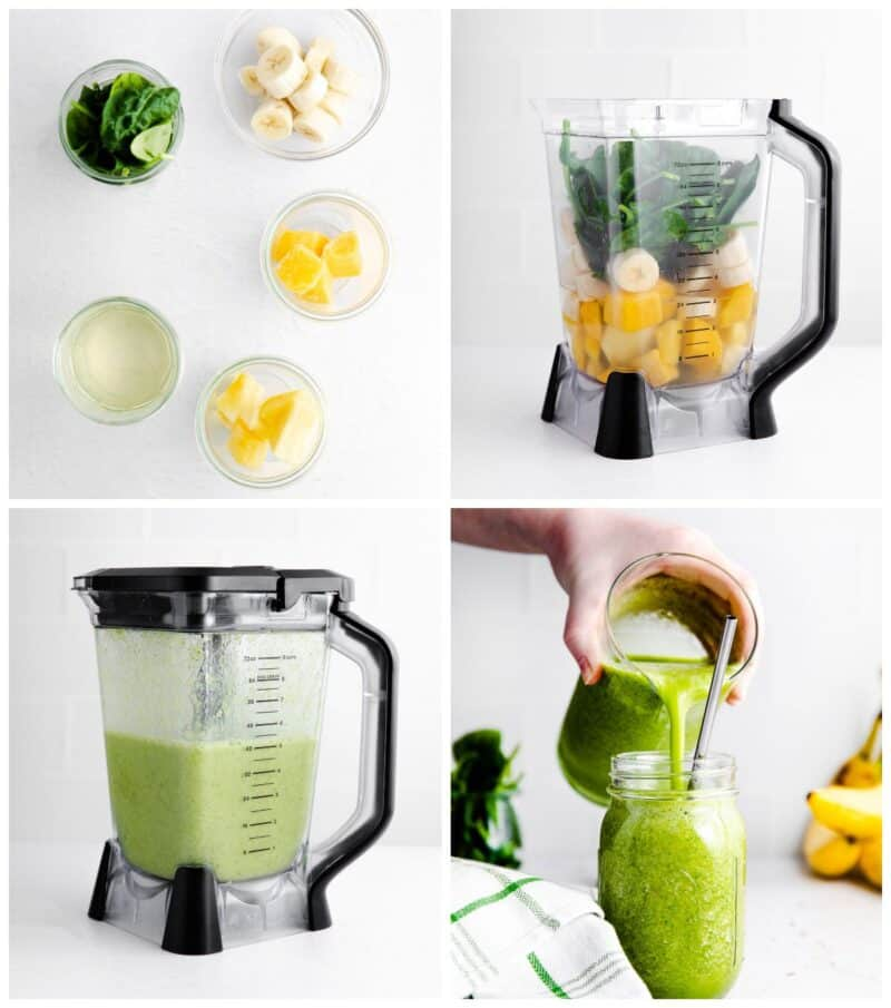 step by step photos for how to make island green smoothies