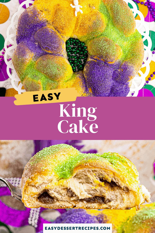 king cake pinterest collage