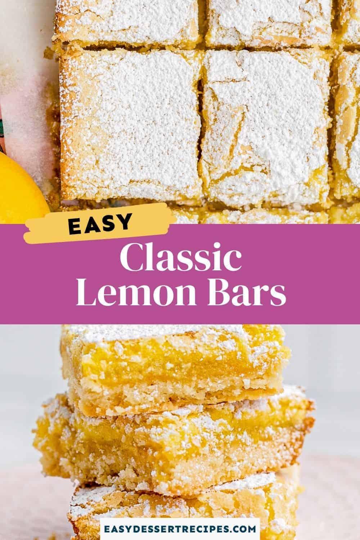 lemon bars pinterest collage