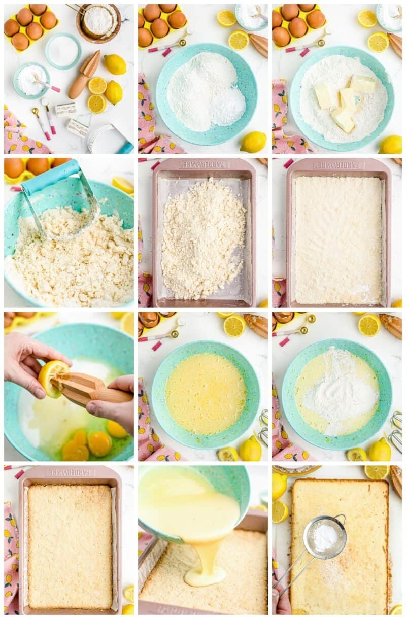 step by step photos for how to make lemon bars