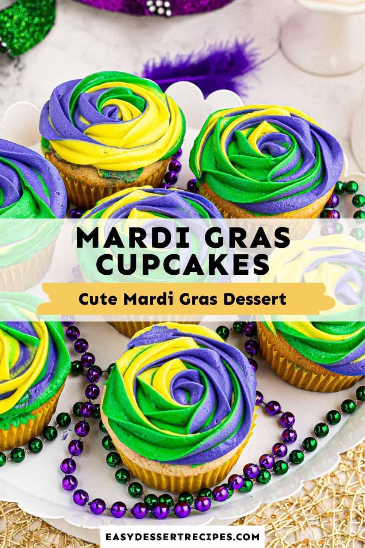 mardi gras cupcakes pinterest collage