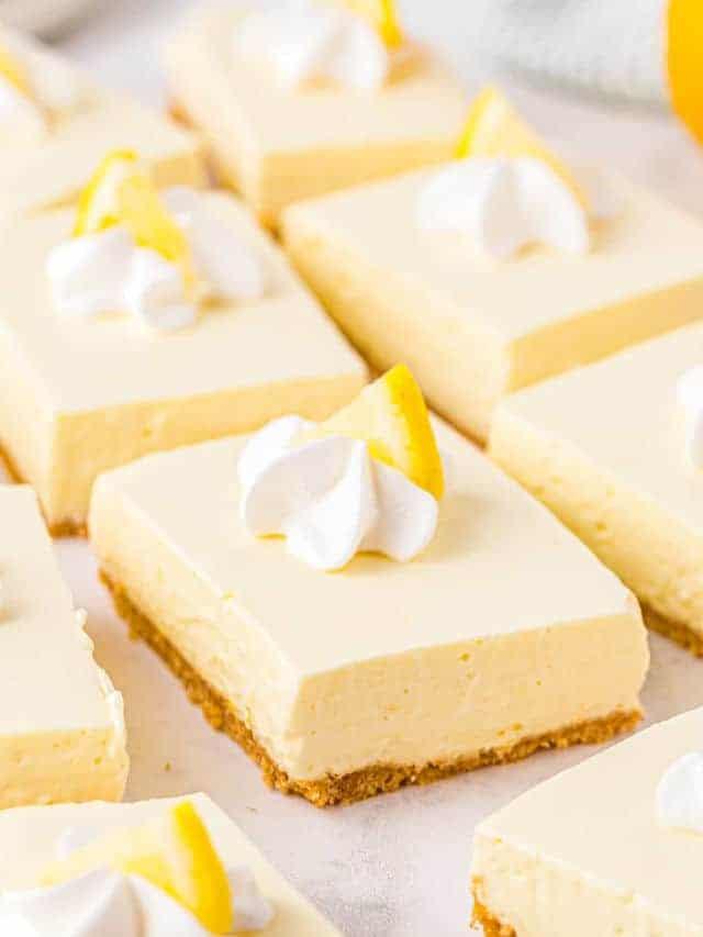 no bake lemon cheesecake bars google poster image