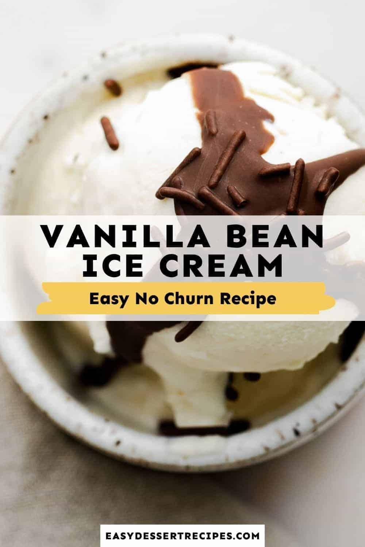 no churn vanilla bean ice cream pinterest