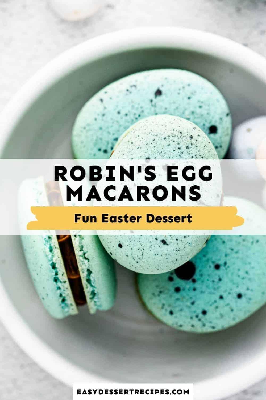 robin's egg macarons pinterest collage