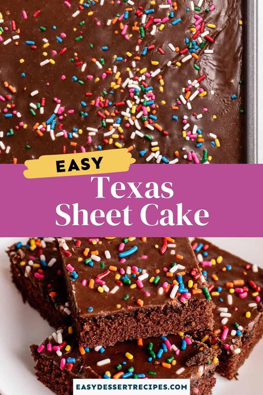 texas sheet cake pinterest collage