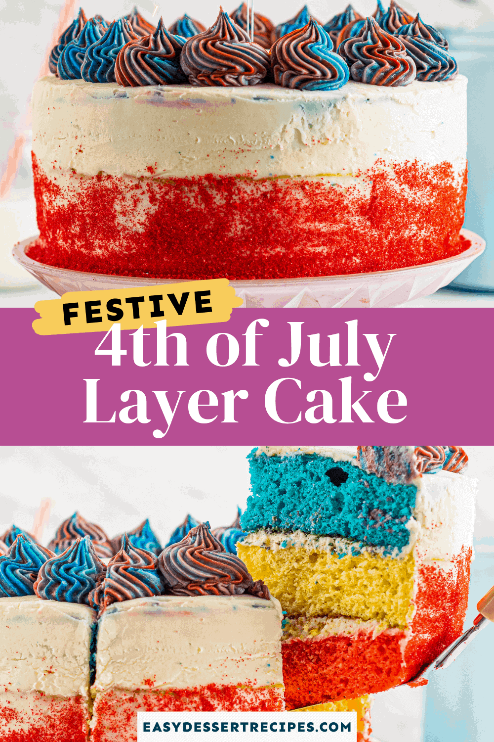 4th of july cake pinterest collage