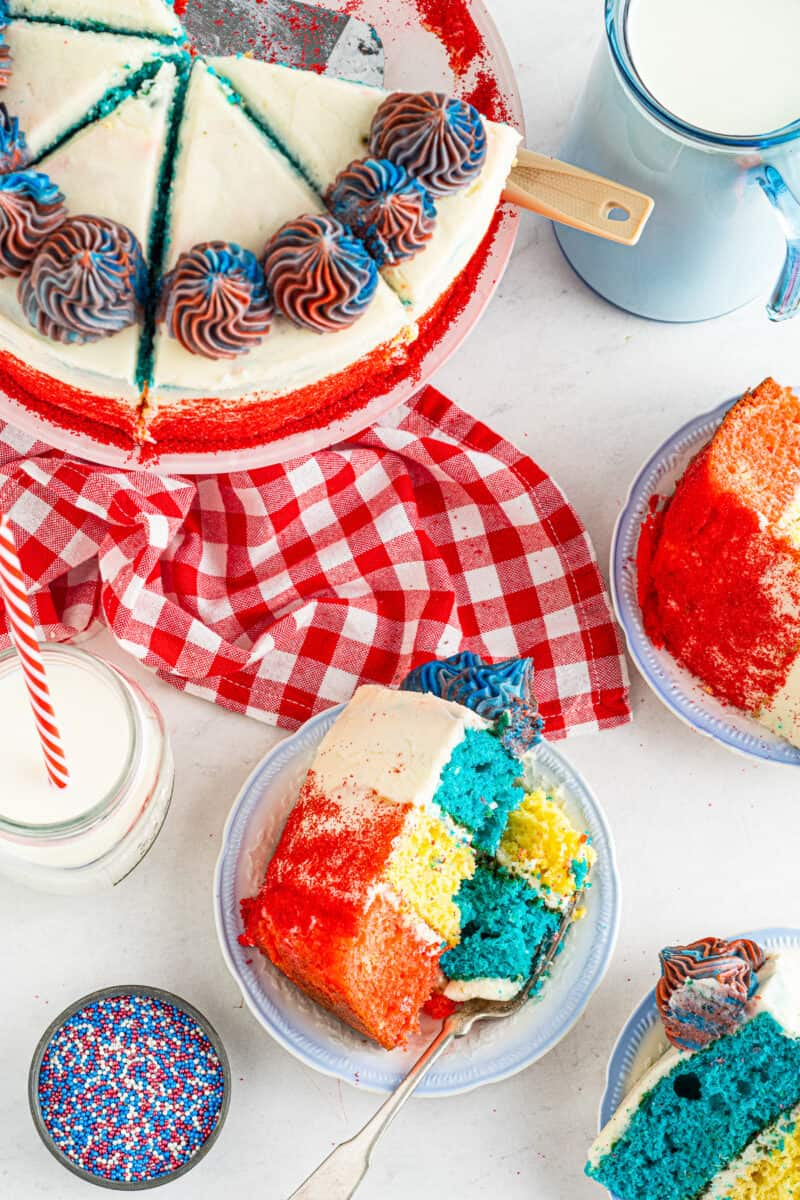 overhead 4th of july cake
