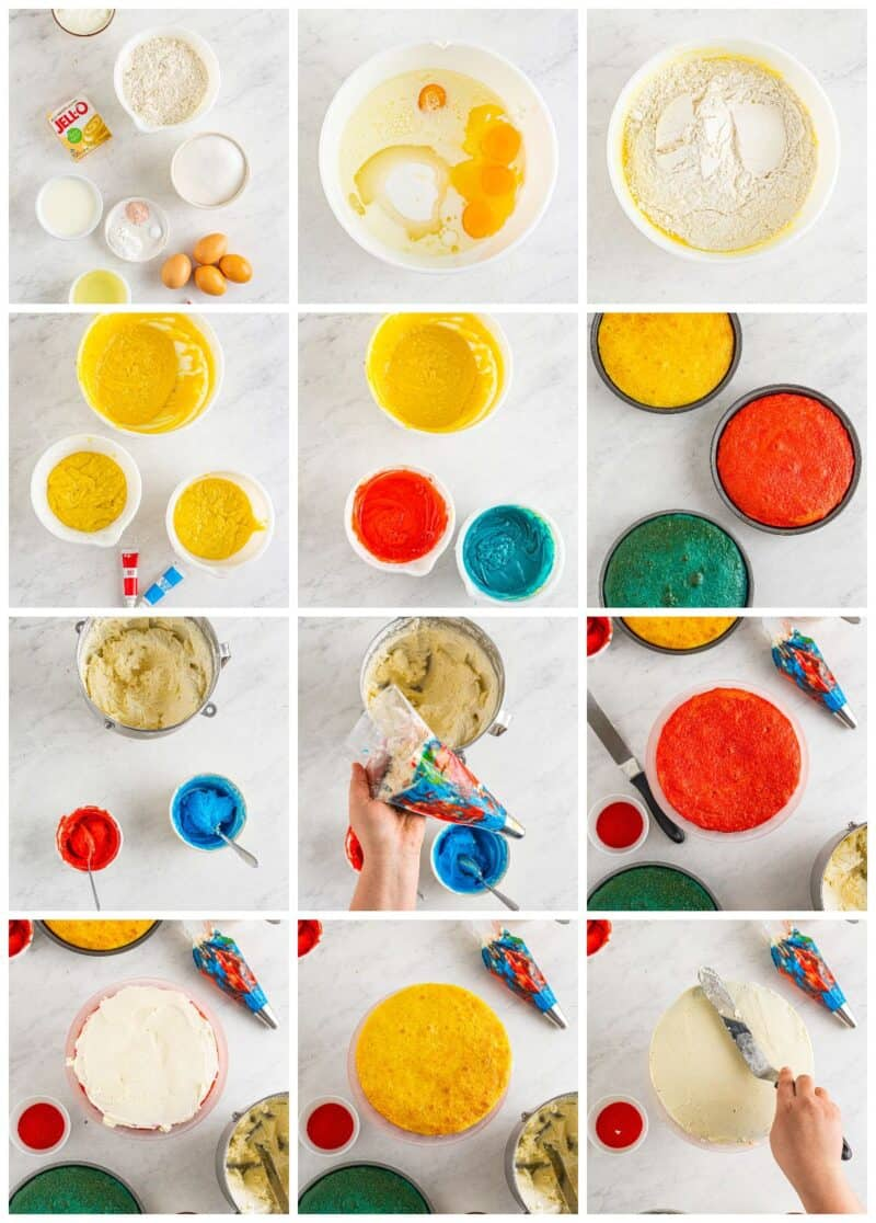 step by step photos for how to make 4th of july cake