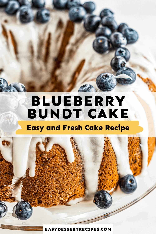 blueberry bundt cake pinterest collage