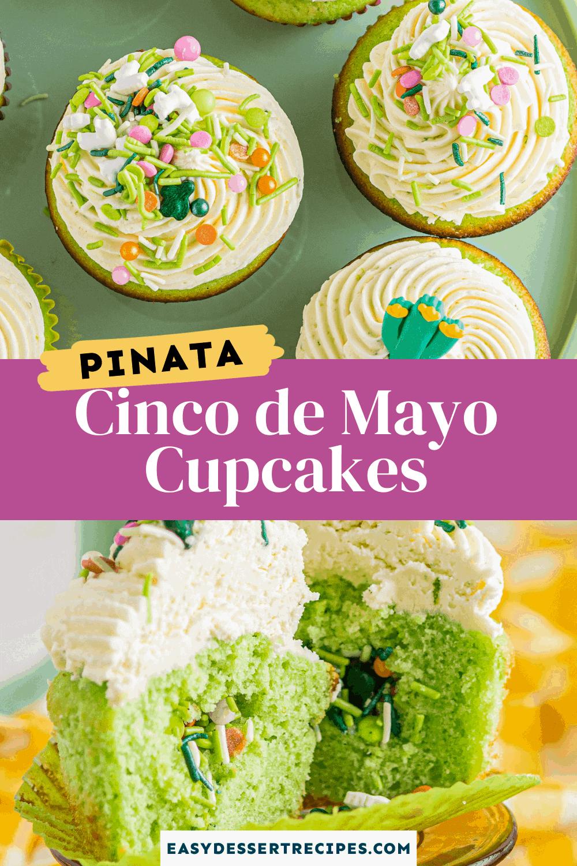 pinata cinco de mayo cupcakes pinterest collage