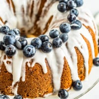 featured blueberry bundt cake
