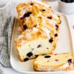 featured blueberry lemon pound cake