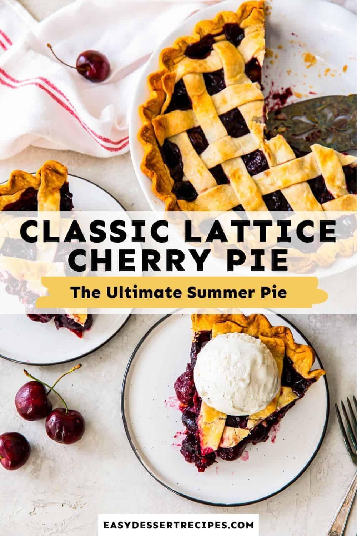 lattice cherry pie pinterest collage