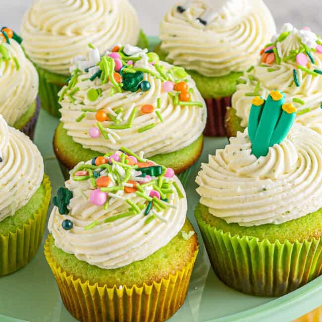 pinata cinco de mayo cupcakes with lime buttercream