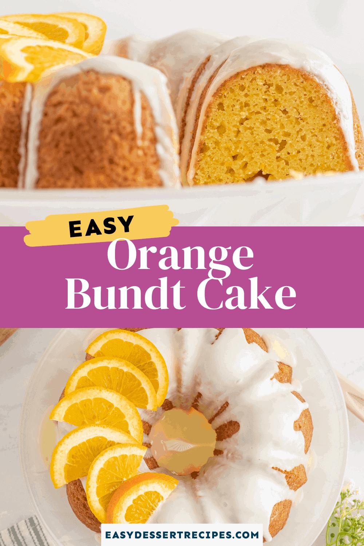 orange bundt cake pinterest collage