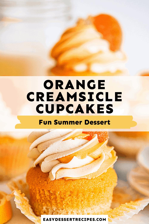 orange creamsicle cupcakes pinterest collage