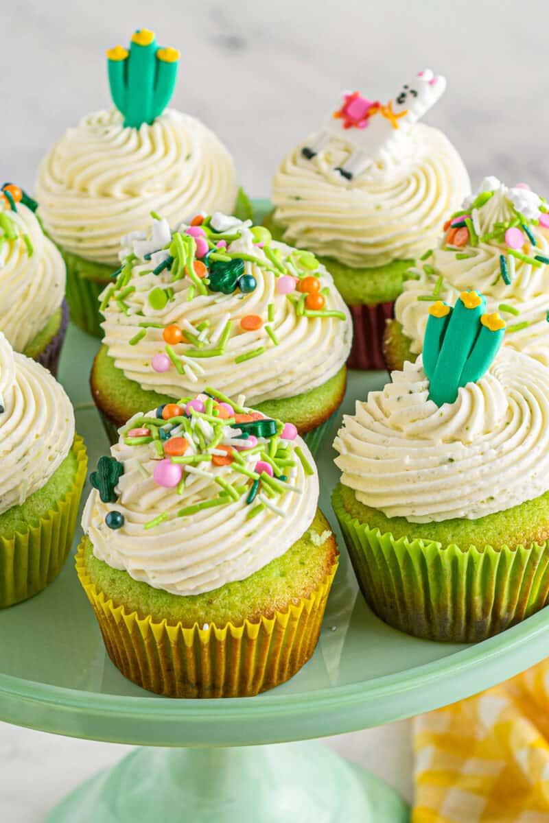 platter of pinata cupcakes for cinco de mayo