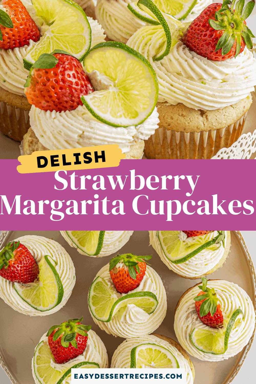 strawberry margarita cupcakes pinterest collage