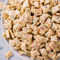 featured cake batter puppy chow