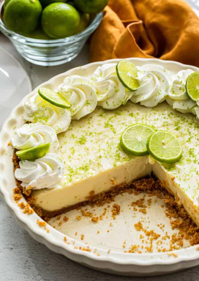 inside of key lime pie