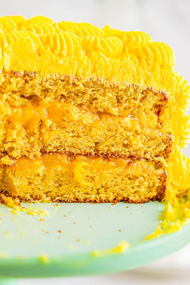 inside of mango cake