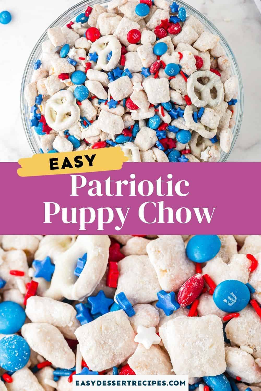 patriotic puppy chow pinterest