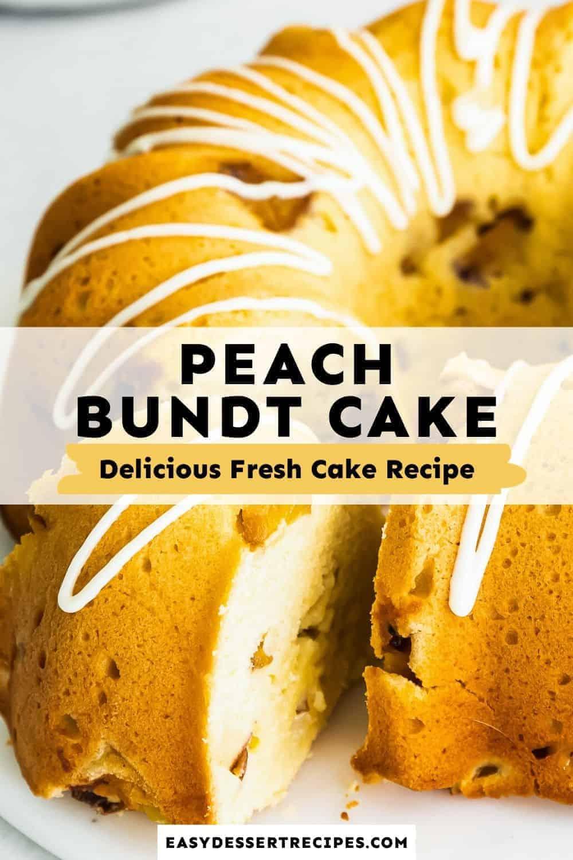 peach bundt cake pinterest